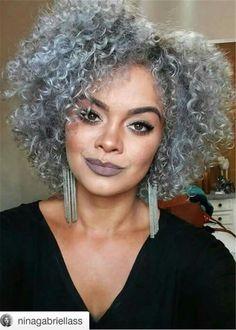Hair Material: Synthetic Hair Length: 12 Inches Hair Texture: Afro Curly Cap Construction: Capless D Pelo Natural, Natural Hair Care, Natural Hair Styles, 12 Inch Hair, Grey Hair Wig, Blue Hair, Curly Nikki, Pelo Afro, Synthetic Hair
