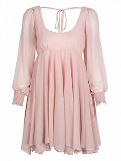 Shop Pink Split Sleeve Backless Dress from choies.com .Free shipping Worldwide.$24.9
