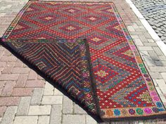 ANATOLIAN VINTAGE Turkish Kilim Rug Carpet by KilimRugStore