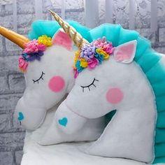 Magical Unicorn by DariaDolls on Etsy Felt Crafts, Diy And Crafts, Crafts For Kids, Arts And Crafts, Unicorn Cushion, Unicorn Pillow, Unicorn Rooms, Unicorn Bedroom, Unicorn Birthday Parties