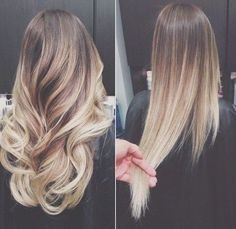 hair, blonde, and ombre imageの画像