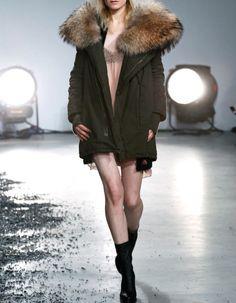 Zadig & Voltaire, look 1, massive fur parka