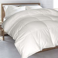$148    Transform your master suite or guest bedroom into a serene retreat with this 300 thread count Egyptian cotton comforter, featuring a baffle box design and do...