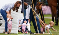 "Catherine "" Kate "" Duchess of Cambridge brings Prince George to the polo match in Cirencester Park on Father's Day.  Dad and Uncle Harry were playing."