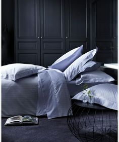 The bed linen sateen Raphael is a standard type, composed of fine scratches. Available in two colors, and biscuit porcelain, this set fits with any interior even more demanding.  100% Pure #Egyptiancotton http://linenhomeambiance.com/product/alexandre-turpault-raphael-bed-linens/