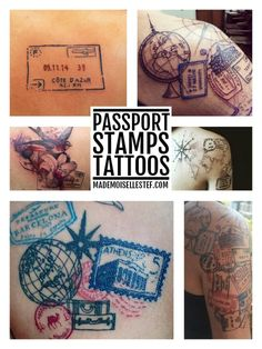tattoo idea passport stamp
