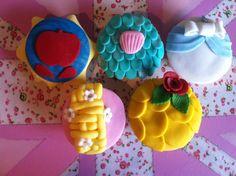 Disney Princess CupCakes by @MyCakeHole
