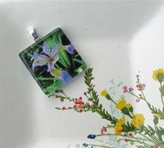 Iris Glass Tile Pendant