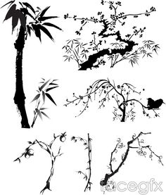 Branches of bamboo leaf vector Free Vector Graphics, Vector Art, Bamboo Leaves, Leaves Vector, Painted Books, Cultural, Chinese Painting, Ink Painting, Graphic Art