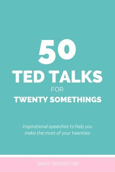 Looking for inspiration, motivation and advice? Watch the best 50 TED Talks for twenty somethings to help you make the most of your twenties. Life Advice, Career Advice, Career Success, Career Change, Self Development, Personal Development, Things To Know, Girl Things, College Life