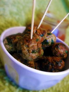 "Appetizers - Spinach and Carrot Meatballs from ""Lick The Spoon"""