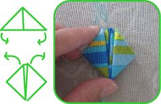 nkitkat: Boys month - origami boats with fabric tutorial