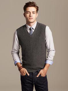 Look du Jour: Camisa, Gravata e Sweater Vest Descolado