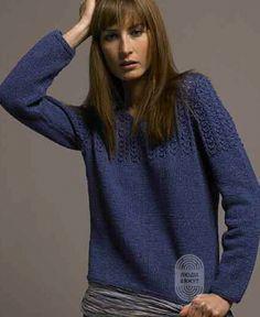 """Люди вяжут: Вяжем: Пуловер. """"Katy"""" с подробной инструкцией на сайте peopleknit.ru."""