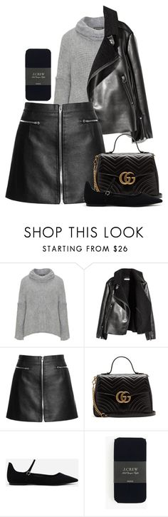 """""""Untitled #3323"""" by moxfordf on Polyvore featuring Amandine, H&M, Gucci, CHARLES & KEITH and J.Crew"""