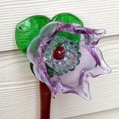 Garden art mini flower yard art suncatcher glass by RecycleRoom, $28.00