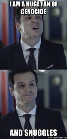 Sherlock #Moriarty #genocide #snuggles