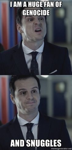 Sherlock #Moriarty #genocide #snuggles