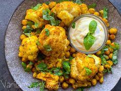 Květák pečený s cizrnou v troubě Cauliflower, Vegan, Vegetables, Cooking, Ethnic Recipes, Fitness, Food, Quinoa, Diet