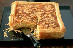 Puff pastry lemon and almond tart