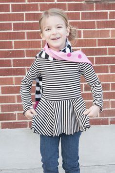 How to make a peplum top (has girl and adult variations). A long sleeve peplum top sounds cute for a fall wardrobe.