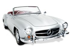Mercedes 190SL. Perfect to make it a day to remember