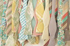 Vintage Pastel Bow Ties.