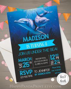 Dolphin Invitation Dolphin Birthday Party Dolphin Invite Dolphin Party Supplies Dolphin Printables Dolphin Birthday Invitation Under the Sea by HappyPandaPrint on Etsy https://www.etsy.com/listing/504994202/dolphin-invitation-dolphin-birthday