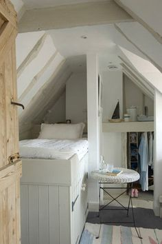 Atic, white, wooden, great using of small space