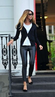 So need a pair of leather or faux leather leggings or skinnies like these...