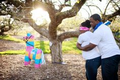 Outrageous gender reveal party ideas: A gender reveal pinata