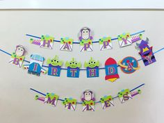 Toy story theme, buzz lightyear party, buzz lightyear party decorations. We all love Toy Story, but buzz it is our favorite. This banner is all about Buzz!