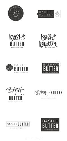 Brand Launch: Bash + Butter - Salted Ink Design Co. | logo concepts |