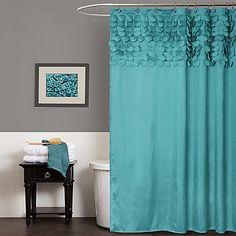 Love this Turquoise Lillian Shower Curtain by Lush Décor on Teal Curtains, Elegant Curtains, Fabric Shower Curtains, Bedroom Curtains, Door Curtains, Kitchen Curtains, Diy Bathroom Remodel, Bathroom Ideas, Bath Ideas