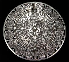 The Fuller Brooch is a piece of late 9th century Anglo-Saxon art of unknown provenance. Large saxon disc brooch from the British museum. 11cm diameter, deep engraving and bossed rivets.