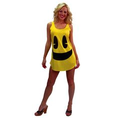 Experience the magic of 80s nostalgia and vintage video arcade games in our sexy Pac-Man Deluxe Tank Dress Adult Costume! The gamer girls are sure to love this one! Our sexy Pac-Man Costume includes sassy yellow mini tank dress with printed Pac-Man smiley face on front. Lead those Ghost Monsters on a chase as a hungry hero in our women's Pac-Man Costume. It will allow you to express your love for old school play by paying tribute to the vintage 8-bit video arcade game phenomenon! Pac-Man has…
