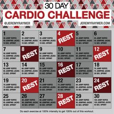 This 30 Day Cardio Challenge make you work hard and push yourself through the ne. - This 30 Day Cardio Challenge make you work hard and push yourself through the next month without gi - 30 Day Cardio Challenge, 30 Day Workout Plan, Challenge Ideas, Month Workout, Health Challenge, Workout Plans, 30 Day Fitness, Fitness Motivation, Health Fitness