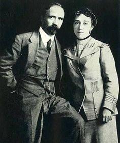 Francisco I. Madero y Sara Pérez recién casados.