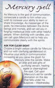 Magick Spells:  Mercury #Spell.
