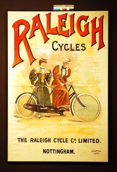 Raleigh Cycle Promotional poster by Dangerfield Printing co Raleigh Bicycle, Raleigh Bikes, Tandem Bicycle, Bicycle Clock, Bicycle Art, Vintage Travel, Vintage Ads, Vintage Posters, Bicicletas Raleigh