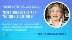 Join me Live on Thurs 20th at 12pm GMT on Facebook with my guest Eve Earley, to find out more about the art and use of #VisionBoards