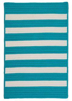 RugStudio presents Colonial Mills Stripe It Tr49 Turquoise Area Rug