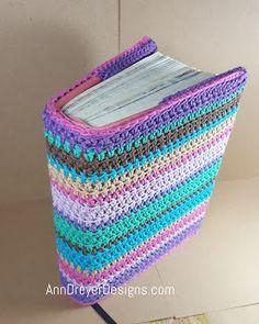Journaling Bible sweater, free crochet pattern for book cover by Ann Dreyer Designs Crochet Book Cover, Crochet Books, Crochet Home, Crochet Gifts, Free Crochet, Crochet Bookmark Pattern, Crochet Bookmarks, Baby Afghan Crochet, Crochet Stitches
