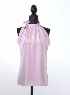 Neckholder Top Bluse altrosa Pastell von lucylique - Mode und Accessoires made in Leipzig auf DaWanda.com