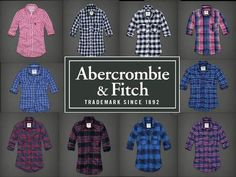 30% Off This Weekend Only! #Abercrombie Fitch XS s M Junior Button Down Plaid Check Flannel Shirt Top | eBay