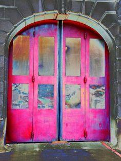Pink. I like these large doors.