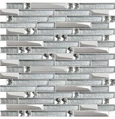 Interlocking Mosaic Tiles Crystal Glass Tile Diamond Tile Mirror Walls modern bathroom tile
