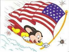 Mighty Mouse with Flag by zombiegoon on DeviantArt Classic Cartoon Characters, Favorite Cartoon Character, Classic Cartoons, Comic Book Characters, Comic Books, Fictional Characters, Character Art, Mighty Mouse, Mighty Mighty