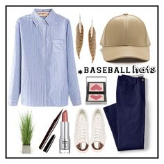 """""""Untitled #204"""" by safanaxd ❤ liked on Polyvore featuring Roberto Cavalli, Lands' End, adidas, Burberry, Marc Jacobs, Distinctive Designs, baseballcap and baseballhats"""
