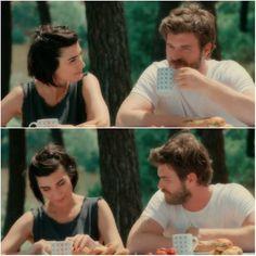 Tuba Buyukustun and Kivanc Tatlitug in Ceasur ve Güzel a Turkish TV series, 2016-2017.